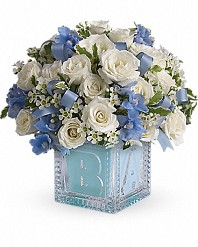 Baby Boy First Block Bouquet