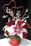 Sparkling Hearts of Love Bouquet