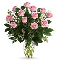 Say Something Sweet Bouquet (Doz Sweet Pink Roses)