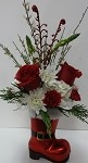Santa's Boot Keepsake Bouquet
